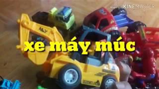 Bộ đồ chơi máy xúc máy cẩu xe lu