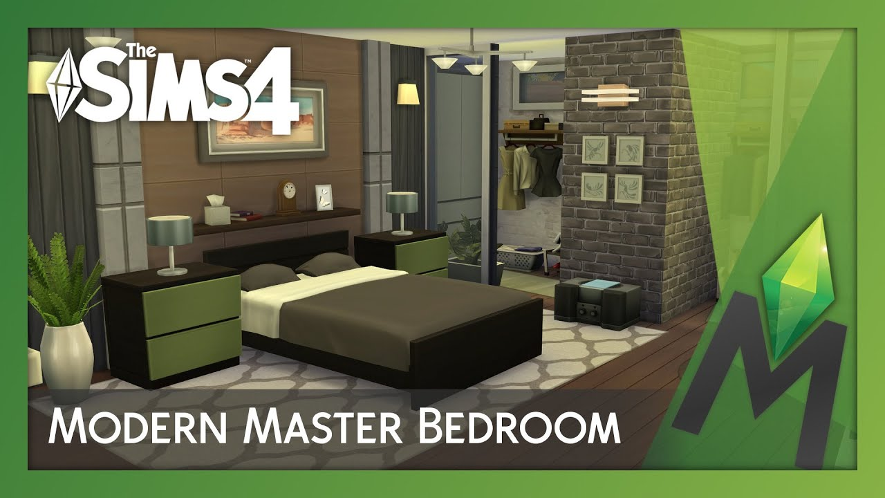 The sims 4 room building modern master bedroom youtube for Room design builder