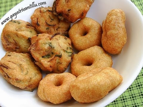 Garelu & Masala Garelu - Vada & Masala Vada- Andhra Recipes - Telugu Vantalu