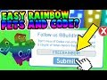 HOW TO GET RAINBOW PETS EASY & CODE? (Pet Simulator)