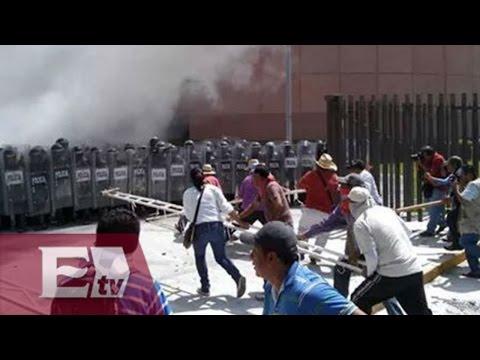 Maestros de Chilpancingo retienen a periodistas y los obligan a emitir mensaje