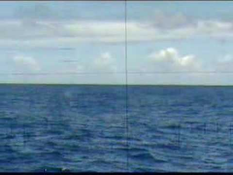 Submarine diving (view from periscope)