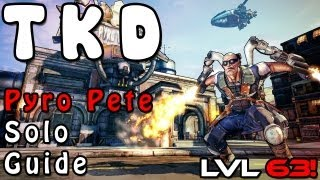 Borderlands 2 - How to Solo Pyro Pete UVHM! (Zer0 W/ Commentary)