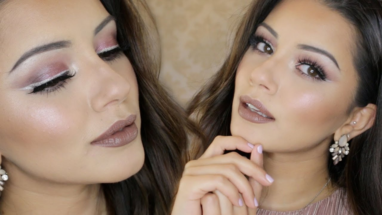 Rosy Pink Party Makeup Tutorial + White Eyeliner Tutorial | Kaushal Beauty