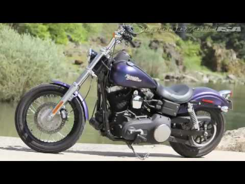 Motorcycle USA Harley Street Bob vs. Triumph Thunderbird Video