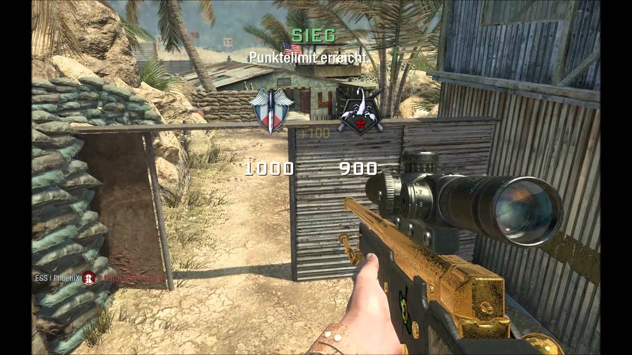 awesome l96a1 trickshots cod black ops youtube