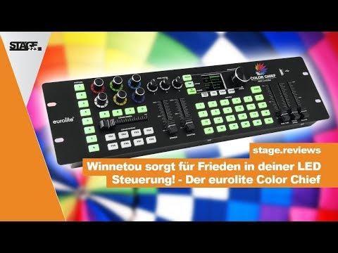 EUROLITE DMX LED Color Chief Controller  - Tutorial & Schnelleinstieg | stage.reviews