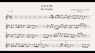 LET IT BE: Bb inst (clarinete,trompeta,saxo sop/tenor)(partitura con playback)