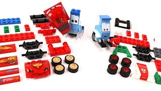 Two Guido's Block Building McQueen and Francesco Bernoulli Blocks Cars Toys Movie for Kids