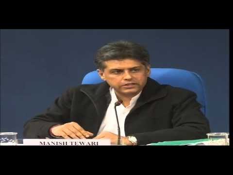 Union minister Shri Manish Tewari interacting with media