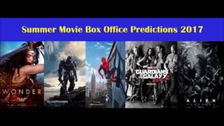 Summer Movie Box Office Predictions 2017