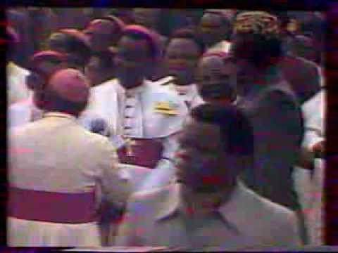 1985 Congo   Jean Paul II, Départ de Kinshasa, Salué par Mobutu, VHS17/1, by HabariSalam