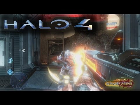 Halo 4 Infinity Slayer Multiplayer Gameplay Promethean Weapon Scattershot Killstreak! Abandon Map
