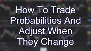 How To Trade Probabilities And Adjust When They Change; www.SlingshotFutures.com