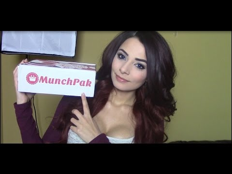 ASMR Munchpak Unboxing & Review (Eating & Crinkly Sounds. Soft Spoken)