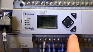 Download A Program To A MicroLogix 1400 PLC Via Memory Module Using The LCD Screen VideoMp4Mp3.Com