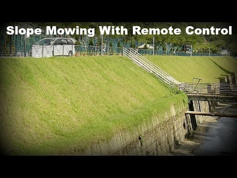 The Slope Mowing Solution is Remote Controlled