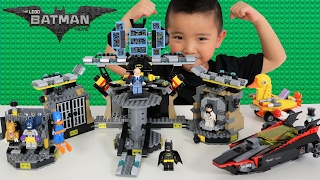 The Batman Lego Movie Batcave Break-in Set Unboxing Assembling And Playing With Ckn Toys
