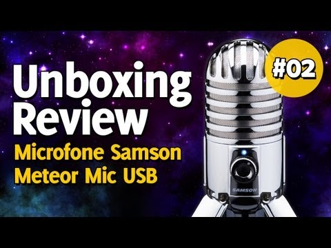 Microfone Samson Meteor Mic USB   Unboxing e Review #2 BR