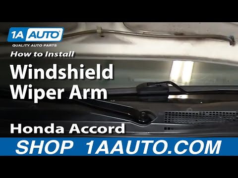 How To Install Replace Broken Windshield Wiper Arm Honda Accord 94-97 1AAuto.com