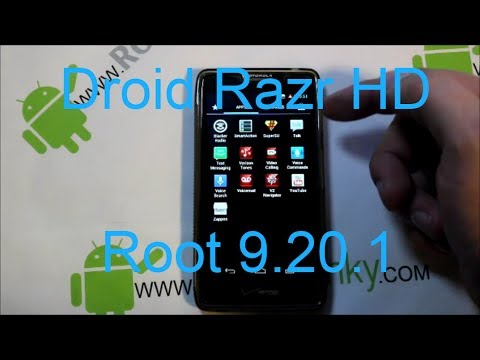 Motorola Droid Razr HD root on 4.1.2 build 9.20.1 or .79