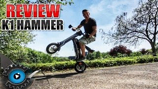 DER COOLSTE KLAPPBARE ELEKTRO SCOOTER | K1 HAMMER REVIEW - TEST [DEUTSCH/GERMAN]