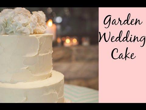 Garden Wedding Cake - Rustic Buttercream & Fresh Flowers