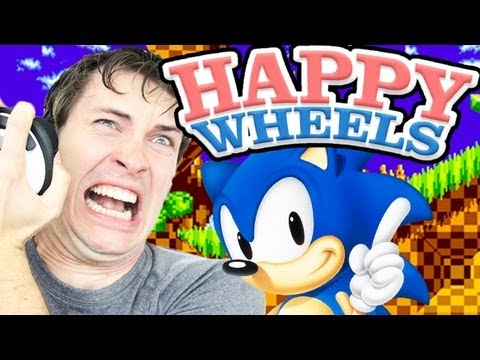 SONIC THE HEDGEHOG RAGE! - Happy Wheels