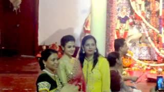 Koel Mallick In Saree - Mallick Bari - Astami Durga Puja | Kolkata 2016