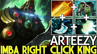 Arteezy [Wraith King] Imba Right Click King with AOE Damage Hard Game 7.22 Dota 2