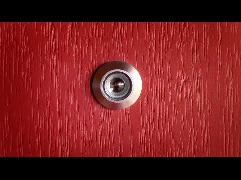 How to install a door viewer peep hole