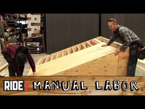How-to Design &amp; Build Bank Ramps Part 4: Plywood Placement - Manual Labor