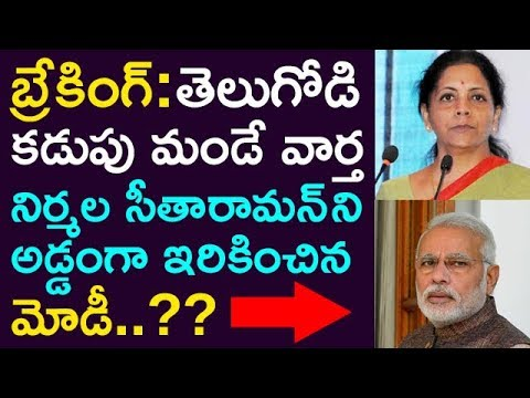 Breaking: Heart Breaking News For Telugu People.. ! Modi Booked Nirmala Sitaraman. !