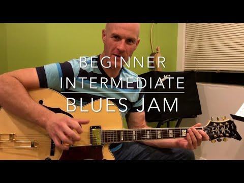 Guitar Lesson - Beginner Intermediate Blues Jam Extended Pentatonic Riff