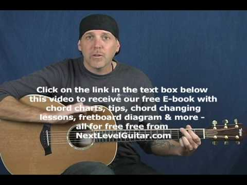 Learn acoustic guitar easy song Eagles style beginner lesson with strum patterns