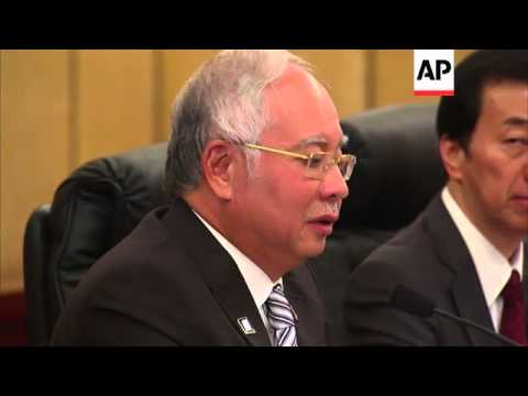 Malaysian PM meets Chinese President; comments on missing plane