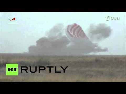 Touchdown! Soyuz TMA-16M trio lands in Kazakhstan