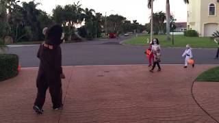 Scaring mothers on Halloween!
