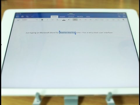 Microsoft Word for iPad - First Look