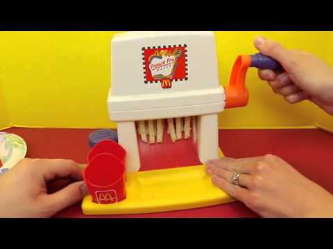 McDonalds Happy Meal Magic ❤ FRENCH FRY Maker Playset & Vintage McDonalds Food Toys