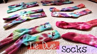DIY   Tie Dye Nike Dri-Fit Socks