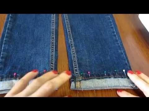 Мастер-класс Как подшить джинсы, оставив производственные потертости