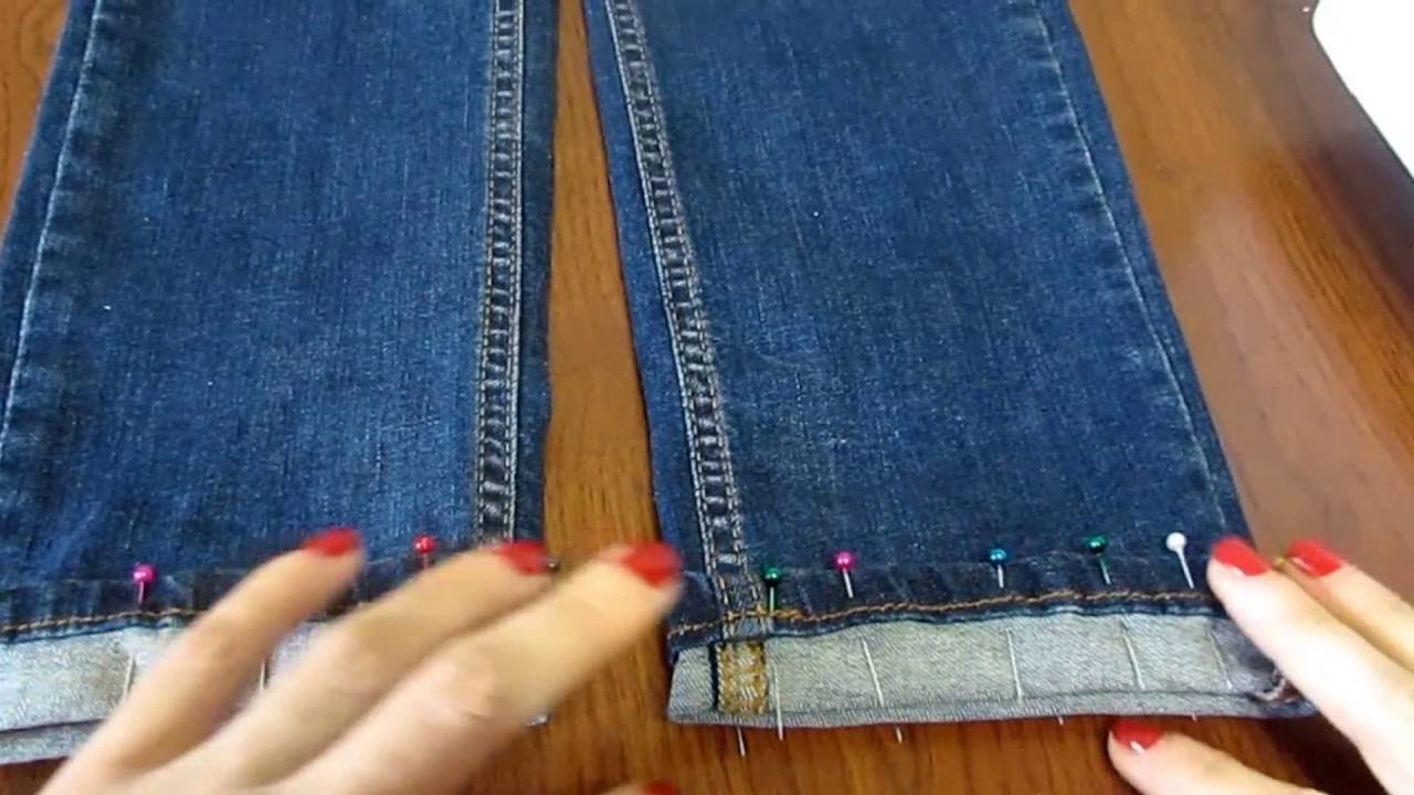Как подшить джинсы на машинке для начинающих с