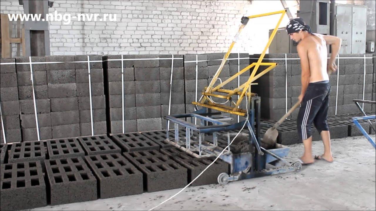 Арболитовые блоки своими руками в домашних