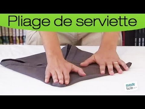 Pliez vos serviettes en forme de n ud papillon youtube - Comment plier des serviettes de table en papier ...