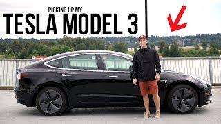 My Tesla Model 3 Delivery Day! (Car Tour + Setup!)