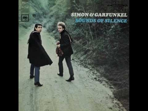 Simon & Garfunkel - Sounds Of Silence (Lyrics)