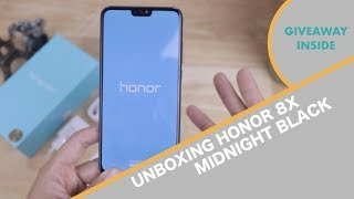 Unboxing Honor 8X Midnight Black - Indonesia + Small GIVEAWAY