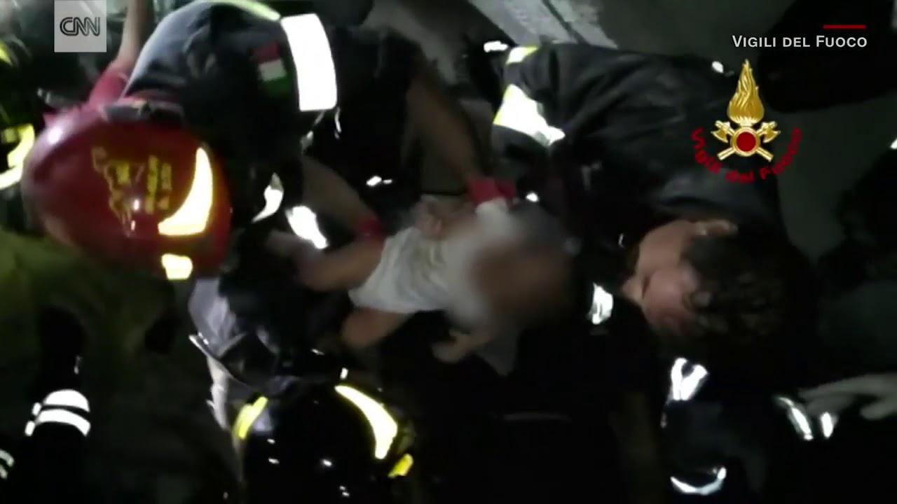 Cheers as baby pulled from Italy earthquake rubble