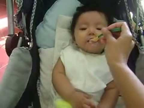 Cute Baby Eating Cerelac video